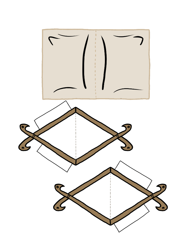Tent paper-craft template