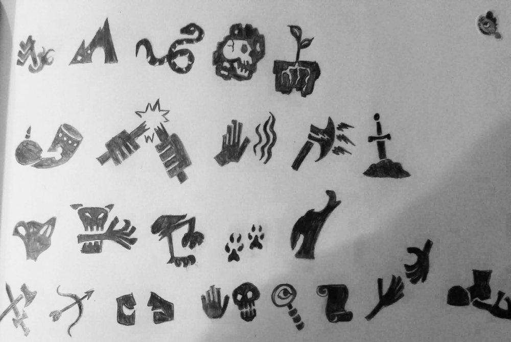 icon drawings for dungeon world style moves