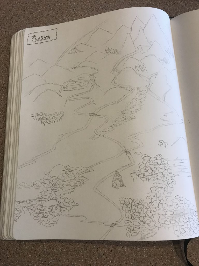 Saksaland map sketch
