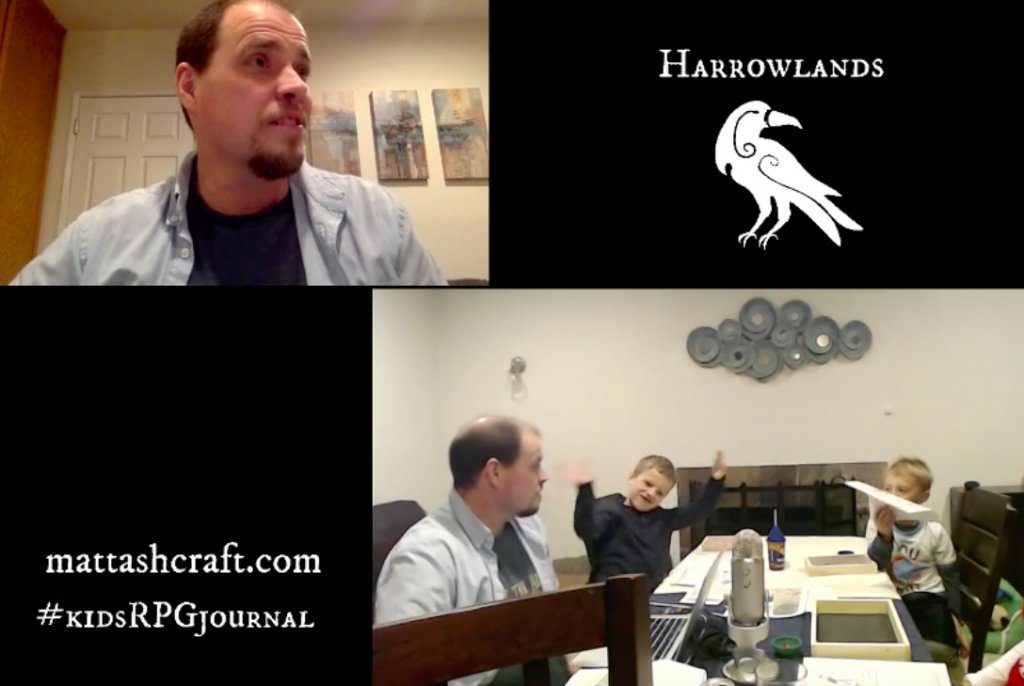 video recording of Harrowlands session zero
