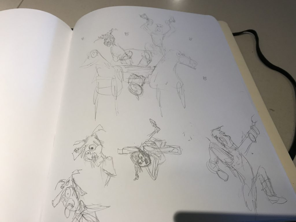 second session overview initial noodle sketches.