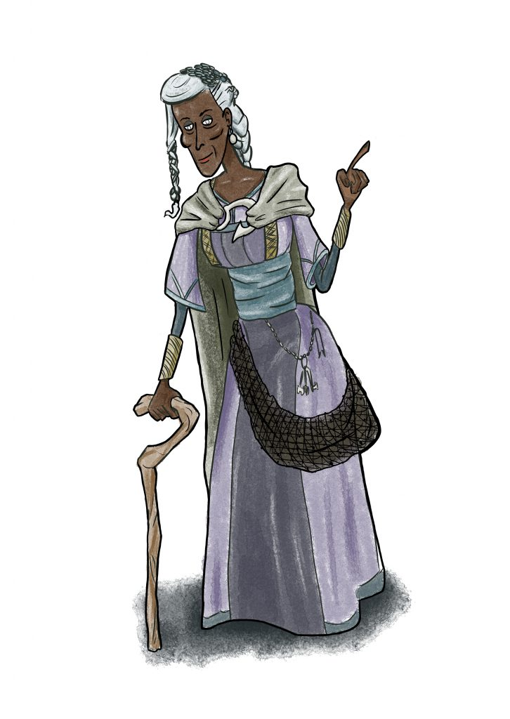 Revised image of Momma Yrla, former pirate, and the lady of Yrlashof.